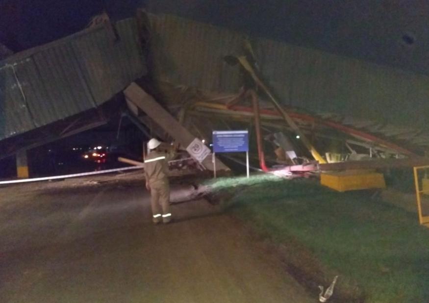 Un buque derrumbó parte del muelle de la empresa Terminal 6